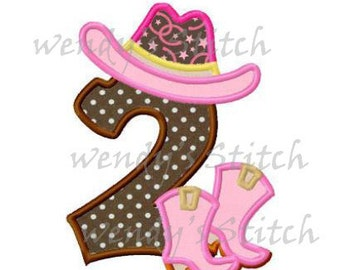 cowboy boots number 2 applique machine embroidery designs