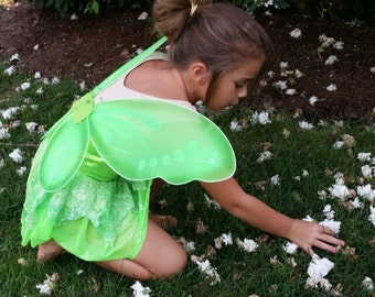 Tinkerbell Inspired Dress - optional BLING