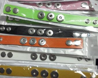 Leather Interchangeable Snap Bracelets 20MM
