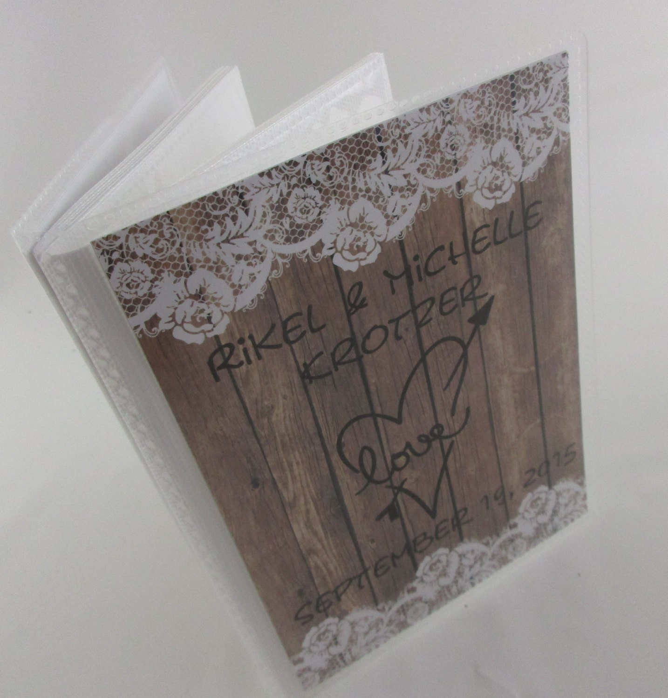 Personalised Wedding Photo Albums: Wedding Photo Album Personalized Photo Album By