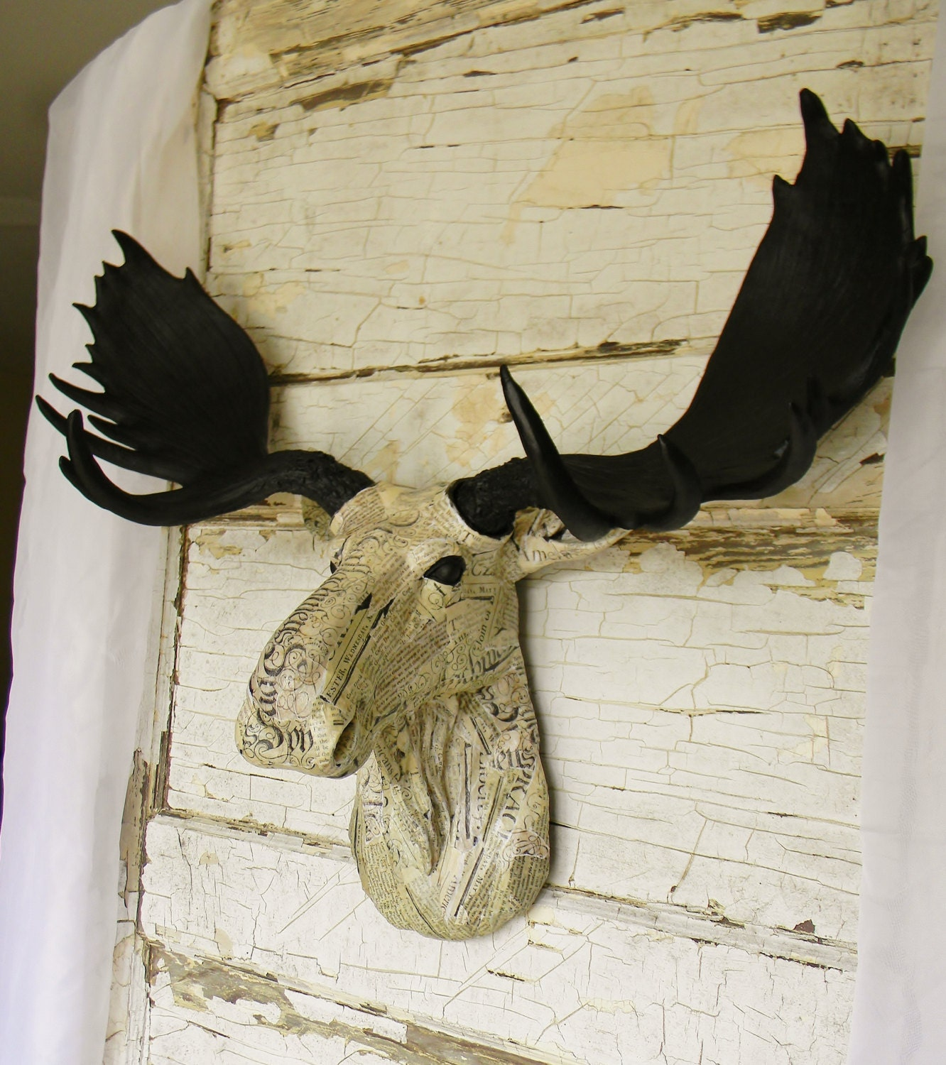 Faux moose head faux taxidermy fake moose by colorfulcastandcrew - Fake moose head mount ...