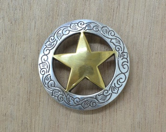 "Western Conchos 1 1/2"" Ranger Texas Star 11570-leather guy mn"