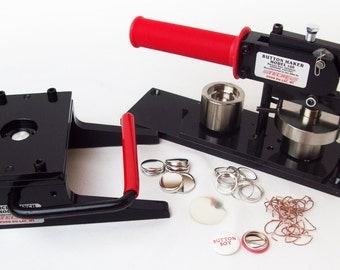"""Tecre Button Making Kit 1"""" - Machine, Graphic Punch, 2000 Pin Back Button Parts"""