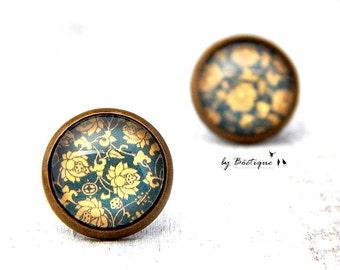 Eardrop: Flowers - 0,51 Inch/Bronze