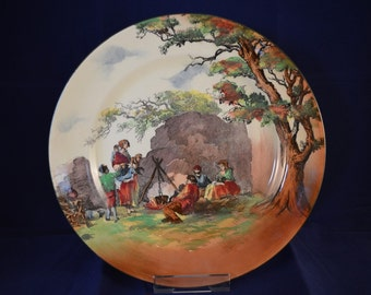 ROYAL DOULTON English Old Scences Plate - The Gipsies - D4983 - Circa 1931