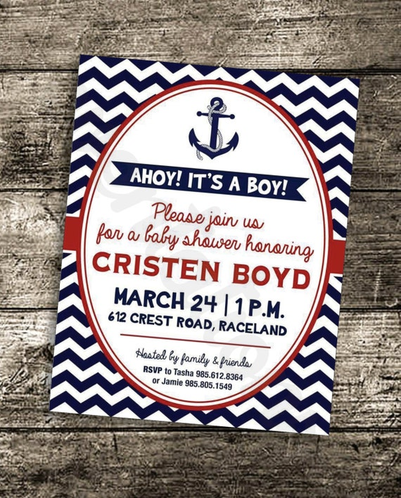 ahoy its a boy baby shower