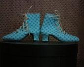 Aqua dot heeled boot for MSD bjd Marbled Halls design