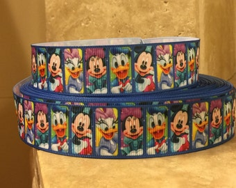 5 YDS Mickey Mouse and Friends Ribbon