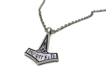 Mjölnir Thor's Hammer Necklace, Simple Mjölnir Necklace, Viking Necklace, Norse Necklace, Mythical Jewellery, Thor Necklace, Mjölnir Pendant