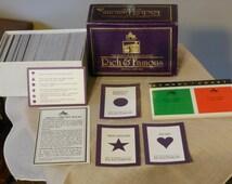 Rich & Famous Trivia Card Set (1984)