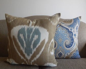 Kravet  2 designer pillow covers,decorative pillows, accent pillows,same fabric front and back