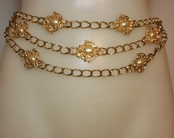 FREE  SHIPPING  Gold Chain Belt