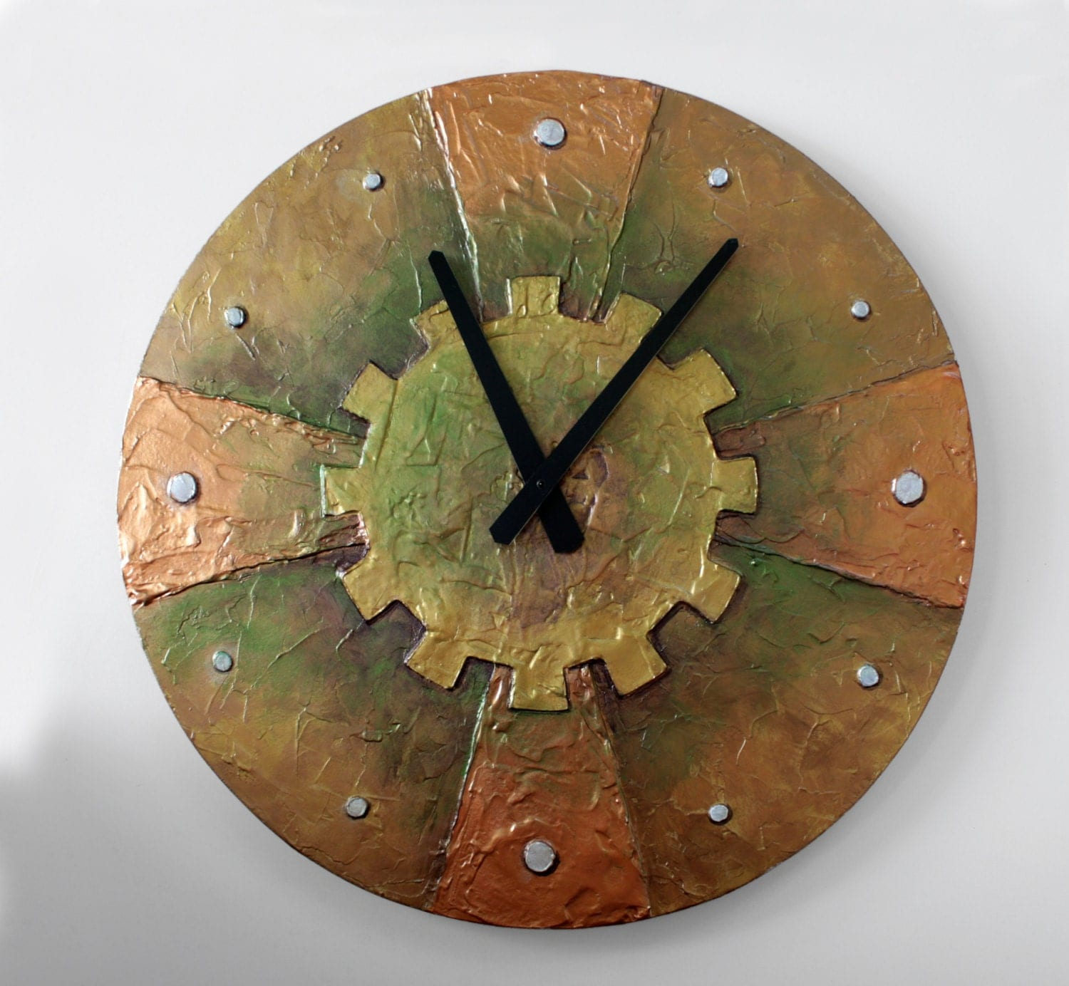 Original painting large steampunk wall clock unique clock zoom amipublicfo Images