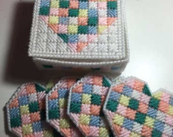 Patchwork Hearts Coasters