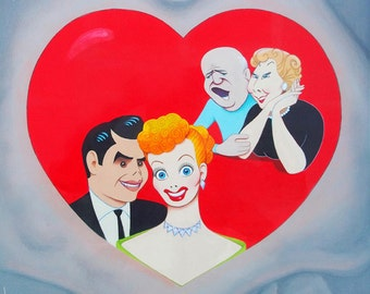 I LOVE LUCY  limited edition art print by Dave Woodman