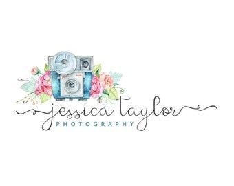Photography logo, premade logo design, watercolor logo, watermark n6