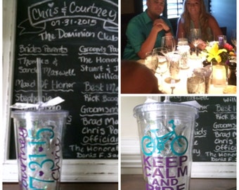 Wedding Party Gift, Rehearsal Dinner Gift, Custom Acrylic Tumbler, Wedding Party Acrylic Tumbler, Wedding Acrylic Cup, MTO CUSTOM Cup