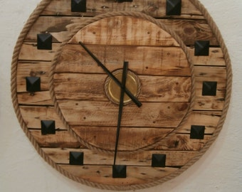 Cable Reel Clock Upcycled