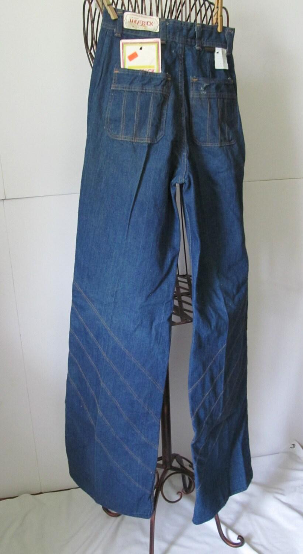 NOS 60s Vintage Maverick Jeans Bell Bottom Jeans Elephant Leg
