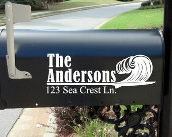 Mailbox Decal * Mail Box*  Beach * Custom *  Personalized