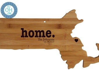 Massachusetts Personalized Cutting Board | Home | Custom Housewarming or Unique Wedding Gift