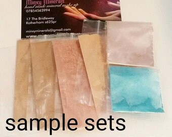 Hand made mineral make up sample set