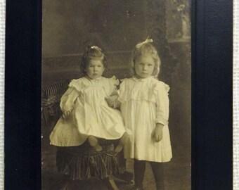 Victorian Portrait - Beautiful Children Sisters