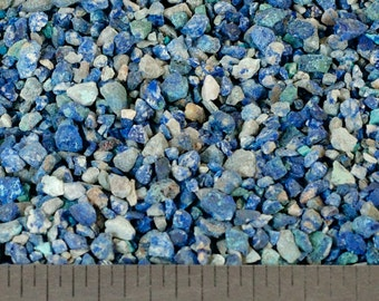 Crushed Azurite - Large Sand - 100% Natural Stone Without Fillers