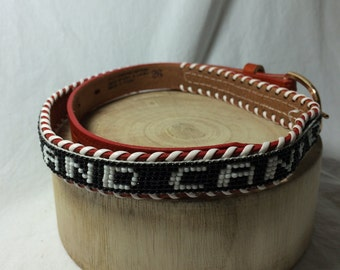 Vintage Child's Beaded Grand Canyon Belt