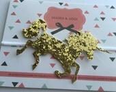 Gold Glitter Unicorn Headband