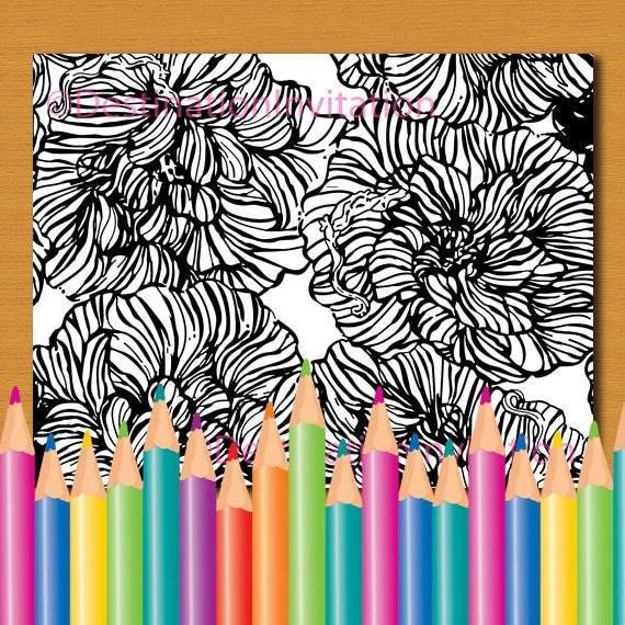 Coloring Page INSTANT DOWNLOAD Coloring Book Lilly Pulitzer