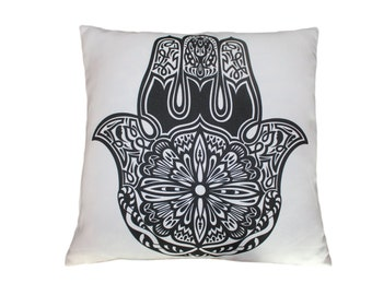 43 x 43cm The Hamsa Hand of Fatima Design - Red Cushion Pillow Cover - for Sofa Bed Gift Home Decor Cushion