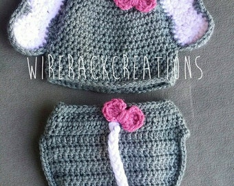 Baby Beanie and Diaper Cover set