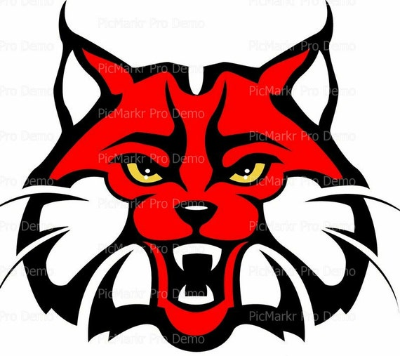 Wildcat Red & Black Mascot Birthday - Edible Cake and Cupcake Topper For Birthday's and Parties! - D20197