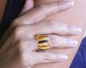 Anillo de ambar baltico (elastico) cuatro colores