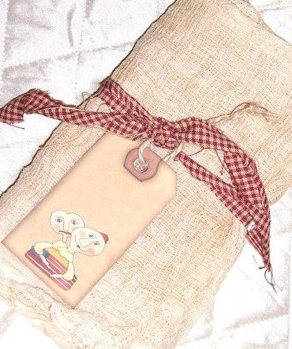 Aged Cheese Cloth Fabric 1 Yard Grunged by SheCollectsICreate