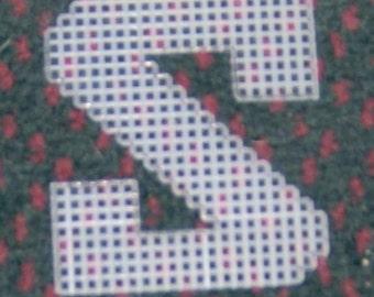 4 inch pre cut plastic canvas letters S