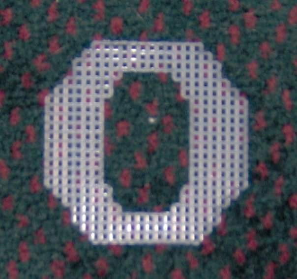4 Inch Pre Cut Plastic Canvas Letters O