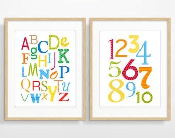 Nursery Wall Art, Nursery Decor, Alphabet Poster, Kids Wall Art, Children's Art