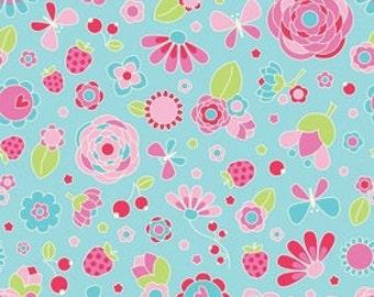Flutterberry By Riley Blake - Blue Flutterberry Main
