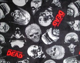 The Walking Dead Zombie Fleece Fabric BTY RARE VHTF