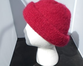 Red Wool Felt Hat 22 Inches
