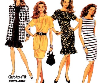 McCall's Sewing Pattern 6628 Misses' unlined Jacket, Dress  Size:  B  8-10-12  Uncut