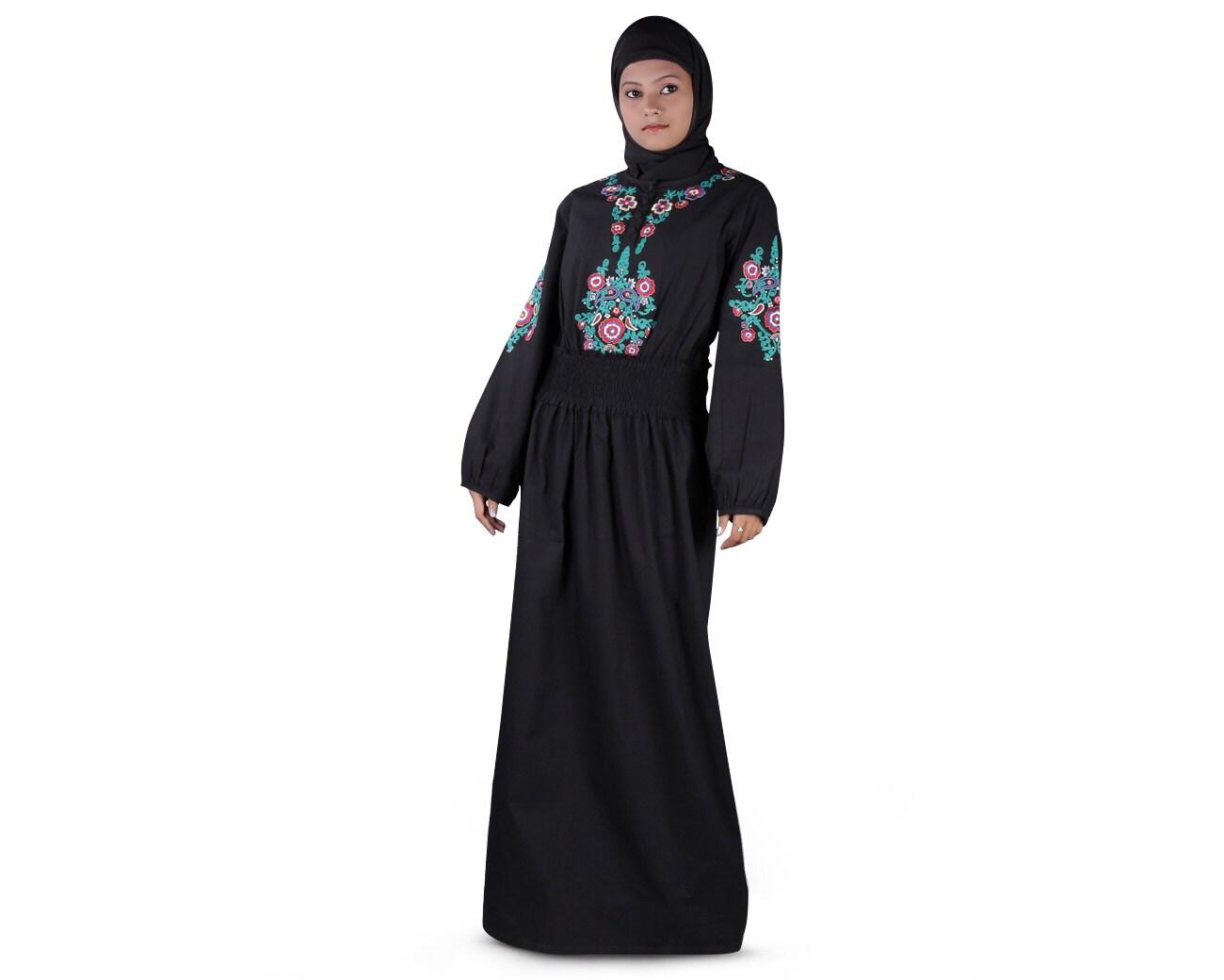 Black cotton dress - Etsy