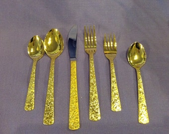 Cellini Romanesque Gold Electroplated Flatware