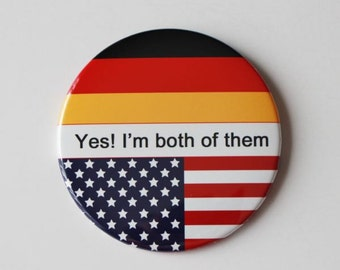 "2.25"" button pin,Germany flag pin,usa flag pin,flag pin,immigration party,citizenship,dual citizenship,personalized pin"
