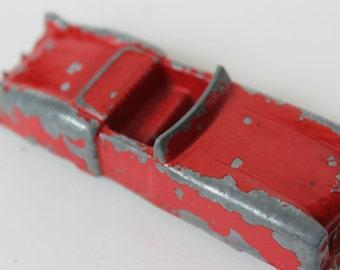 Vintage Midgetoy Convertible Sedan Red Car Die Cast Metal Gangster Mobster Vintage Toy Car