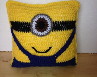 Handmade Crochet Minion Cushion Pillow