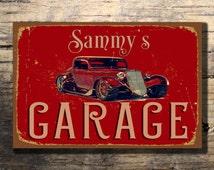 CUSTOM GARAGE SIGN, Customizable Garage Signs, Vintage style Garage Sign, Personalized Garage sign, Garage Name Signs, Gift for Him,Car Sign