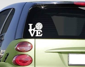 """Volleyball Love 6"""" Sticker *F267* Decal Car Decal Spike Net Shoes Shorts"""
